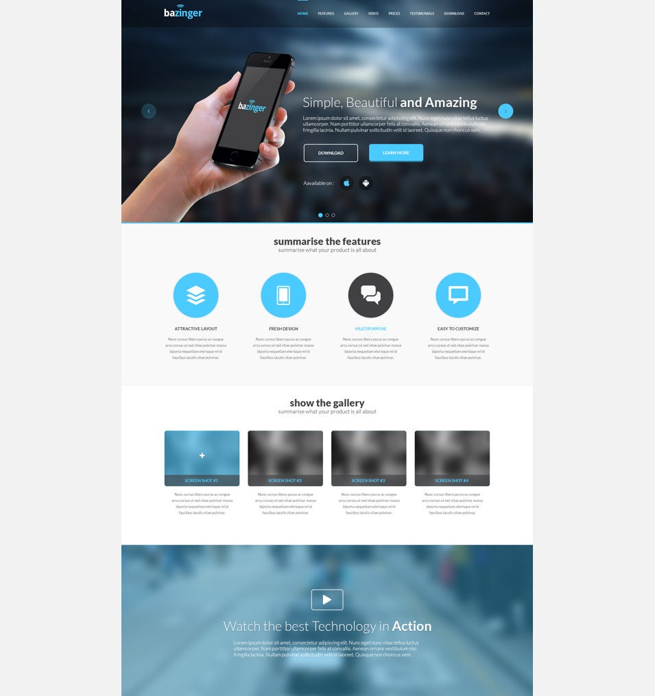 Landing Page Design Psd Free Download Geccetackletartsco - Website landing page templates