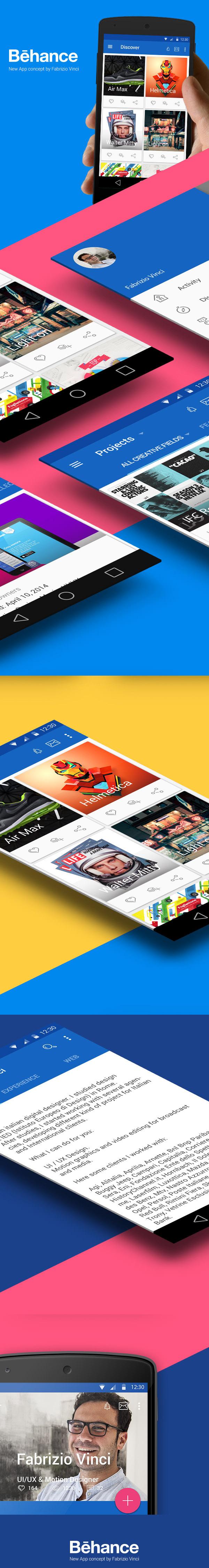 behance new app concept
