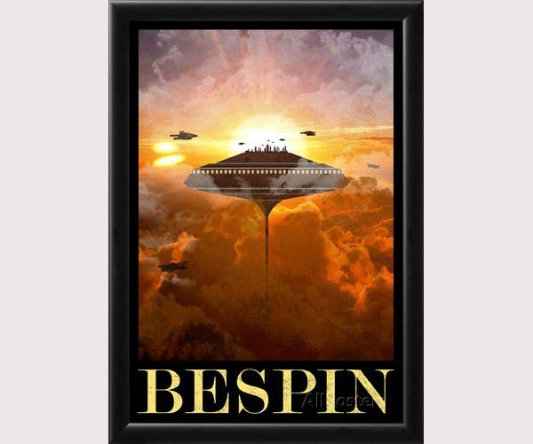 Bespin Retro Travel Poster