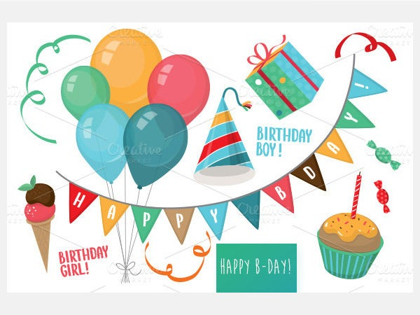 Birthday Party vector Set