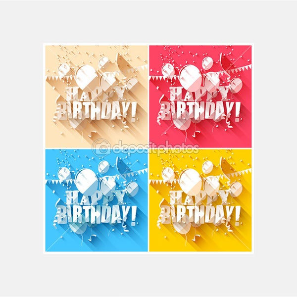 Birthday backgrounds - Stock Illustration