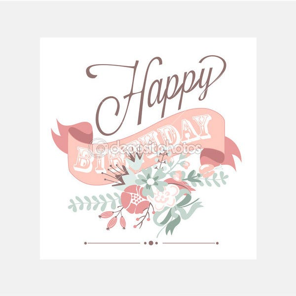 Birthday card - Stock Illustration