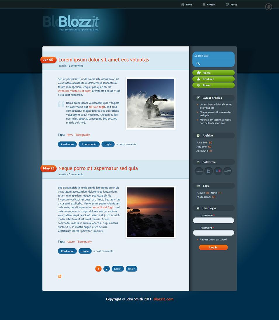 blozzit premium drupal theme by more than themes