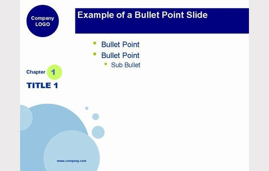 blue bubbles powerpoint template