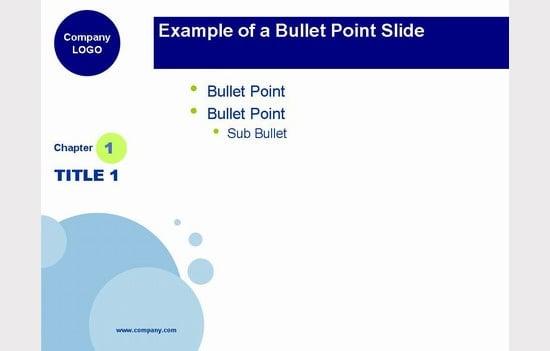 blue bubbles powerpoint template