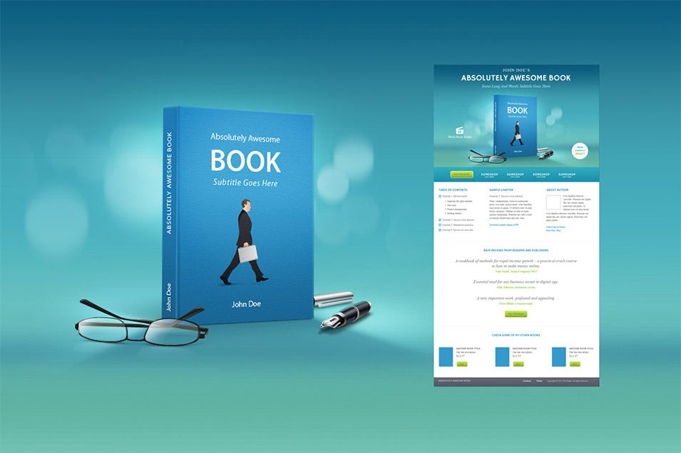 book marketing landing page template1