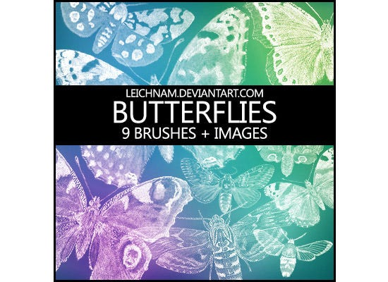 butterflies brushes 353