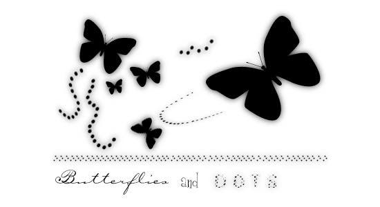 butterflies and dots brushes