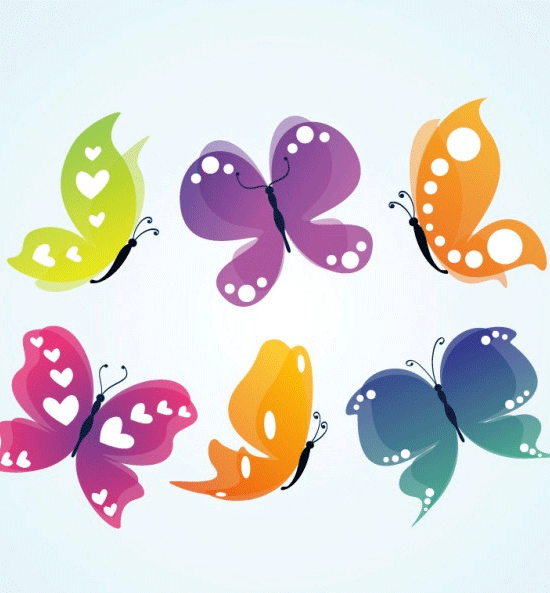 butterflies vector1