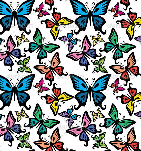 butterfly seamless texture