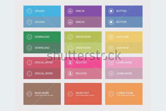 buttons flat user interface1