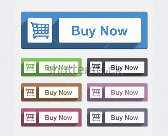 buy now button flat design