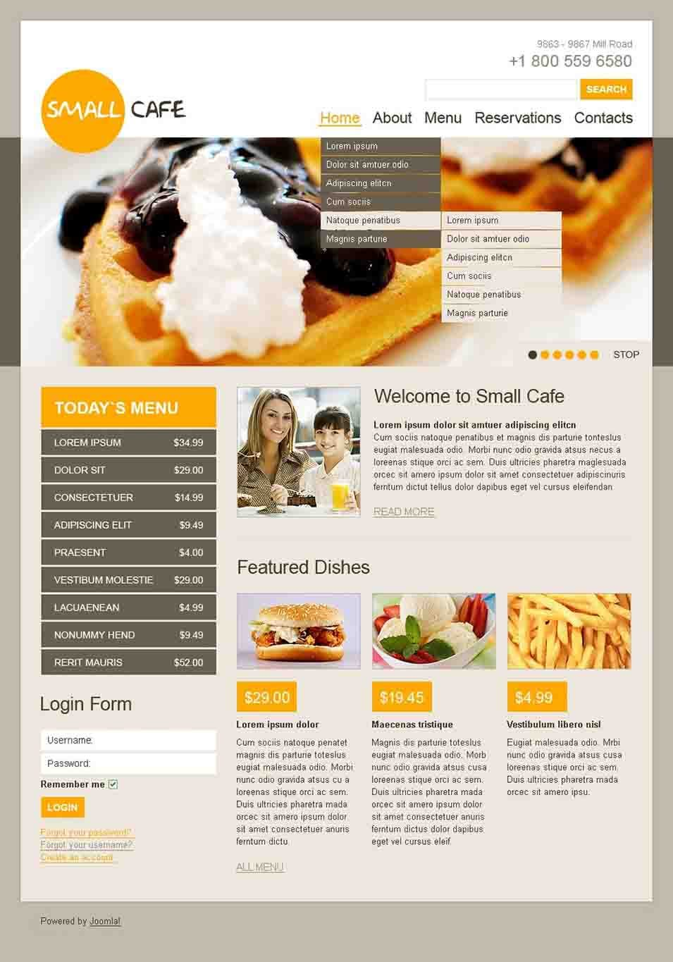 cafe joomla template30534