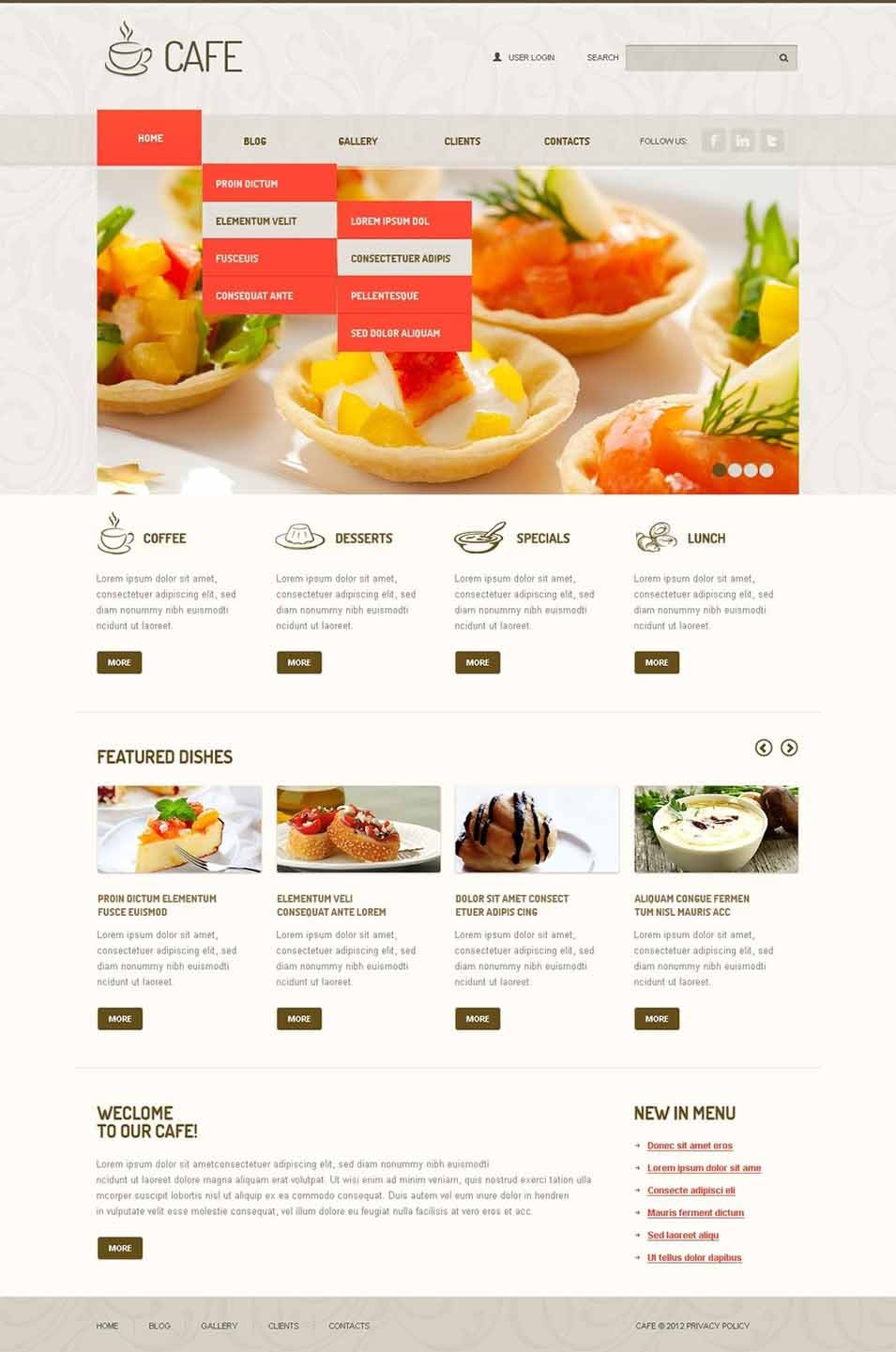 45 best cafe restaurants joomla templates themes free cafe joomla template forumfinder Images