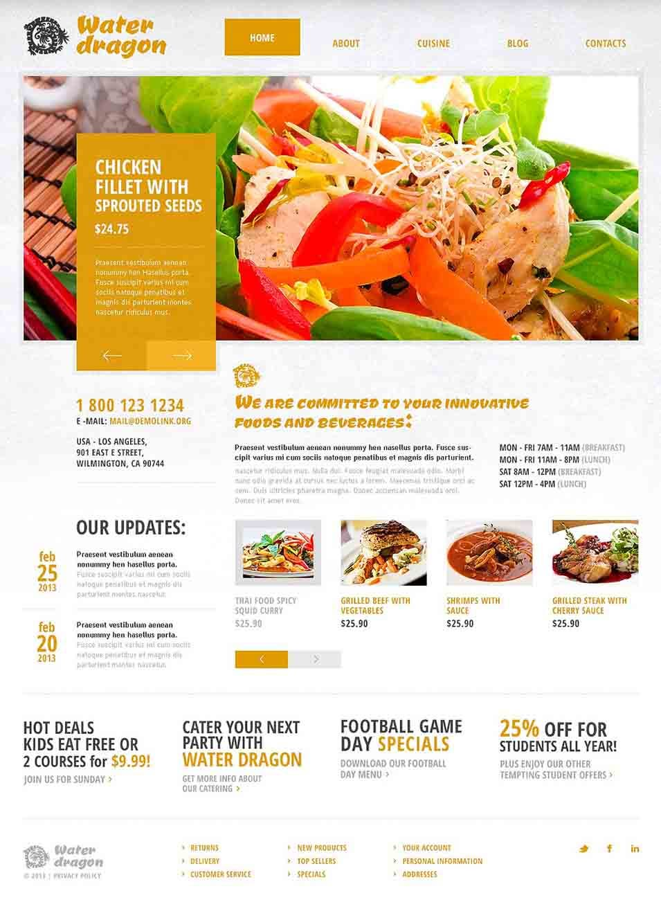 cafe and restaurant joomla template43503 01