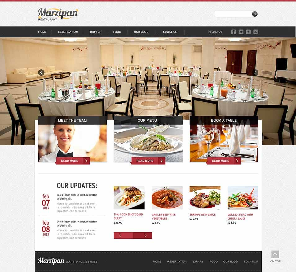 cafe and restaurant responsive joomla templates