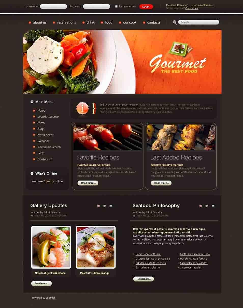 45 best cafe restaurants joomla templates themes free