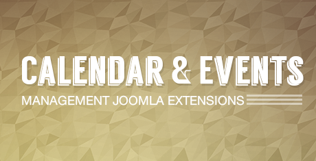 calendar events management joomla extensions