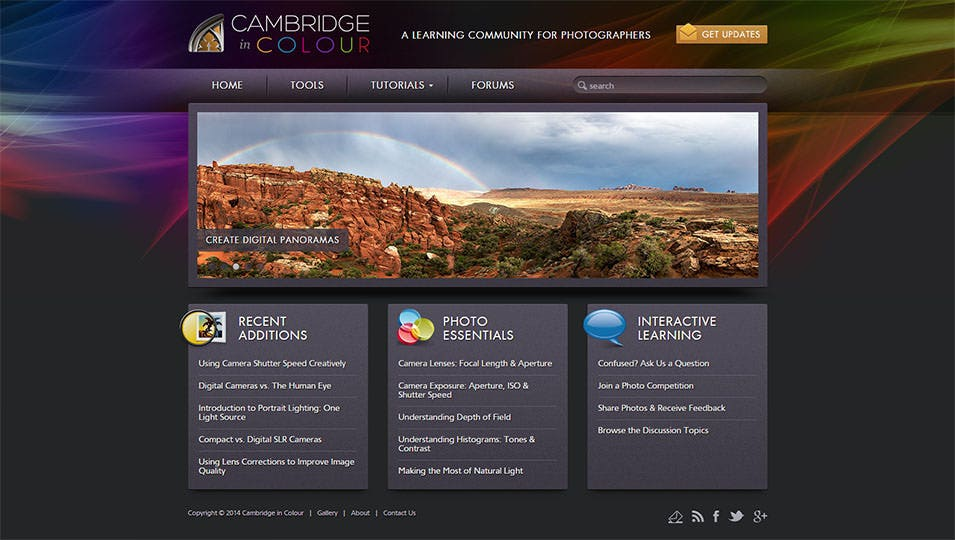 cambridge in colour photography tutorials learning community