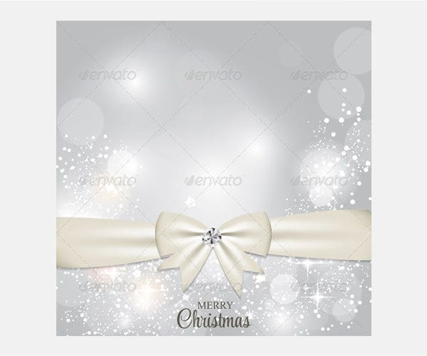 Christmas Glossy Star Background with Ribbon Vector