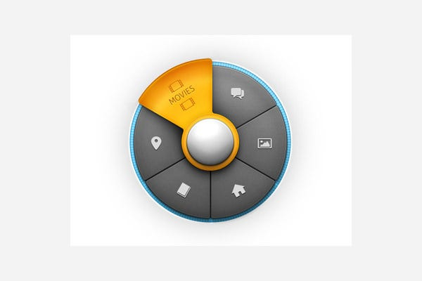 circular menu design