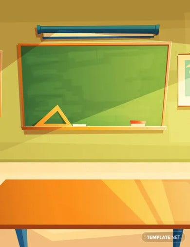 classroom zoom virtual background template