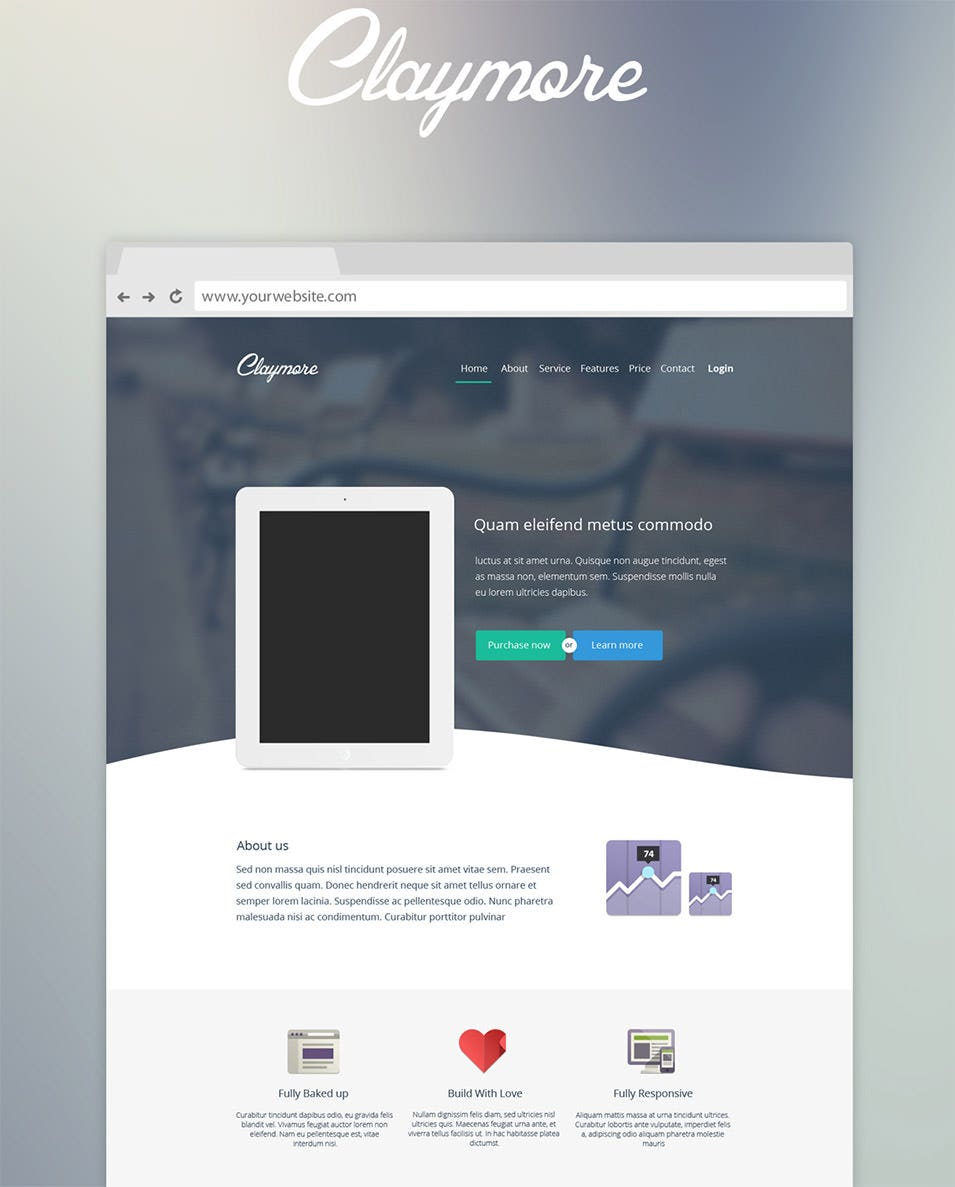 claymore app landing page