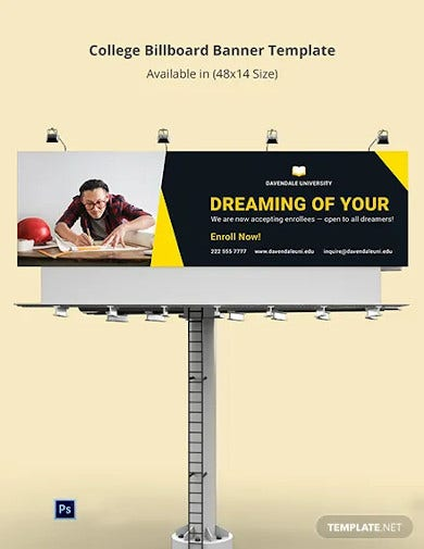 college billboard banner template