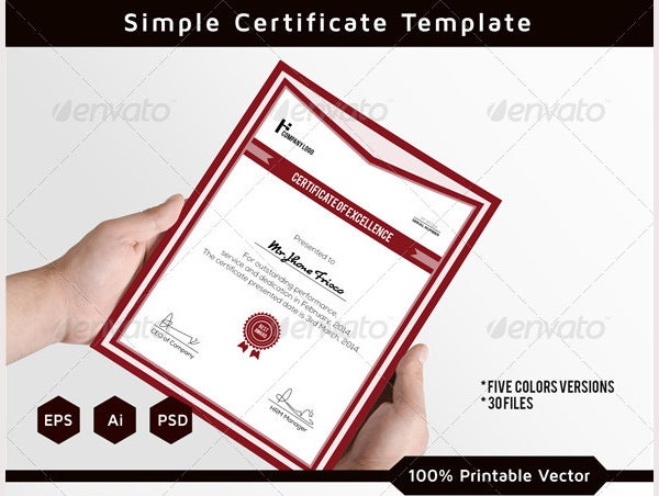 Corporate Certificate Template