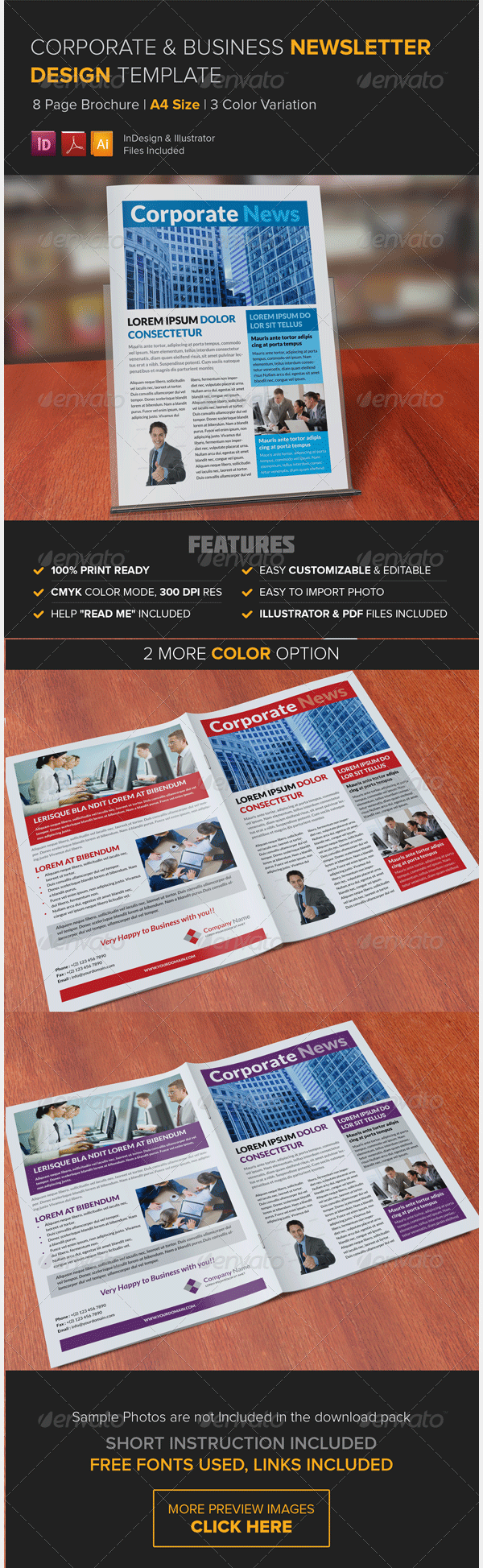 corporate multipurpose newsletter template
