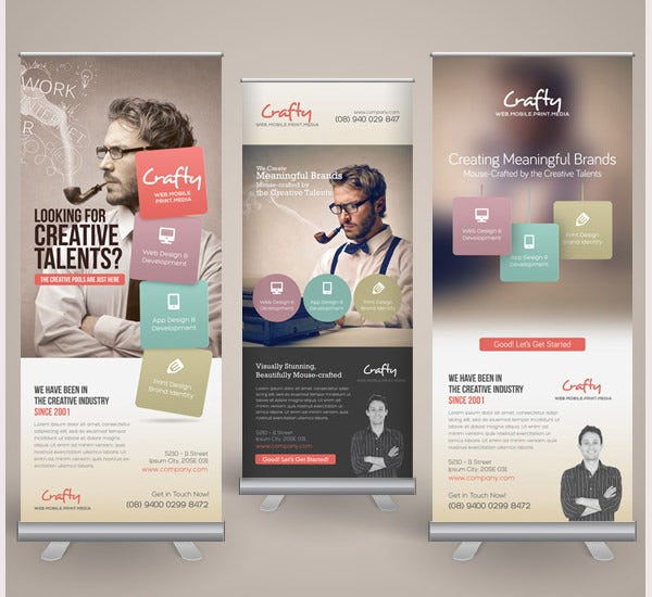 creative design agency roll up banners