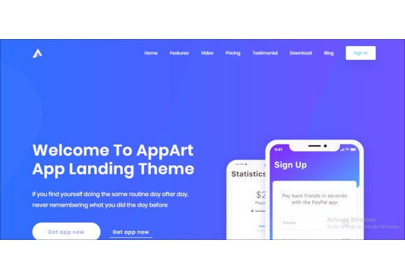 creative wordpress theme for apps