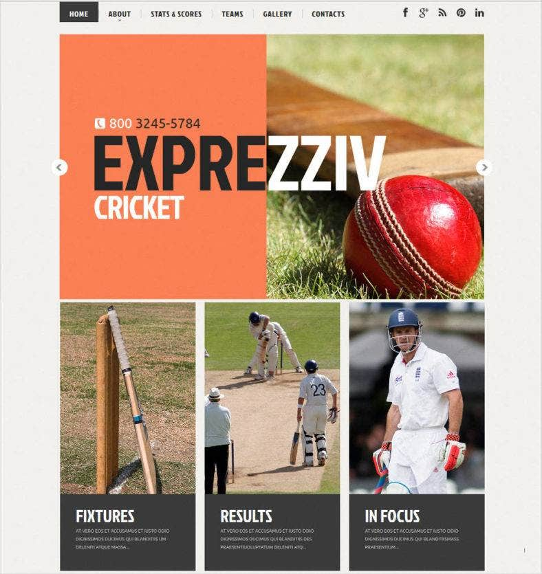 cricket tournament website template 788x835