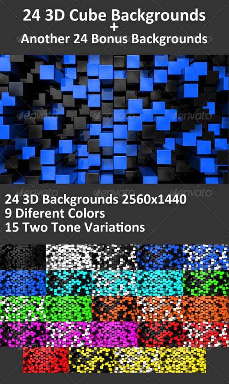 cube 3d backgrounds copy