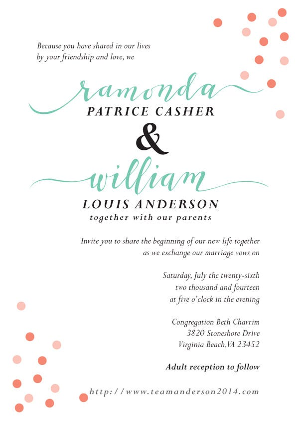Custom Wedding Invitation Suite with Custom Calligraphy