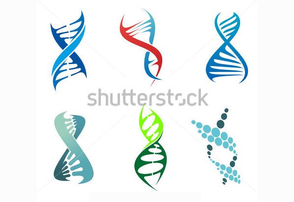 dna and molecule symbols vector