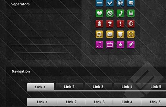 dark mysterious web button elements