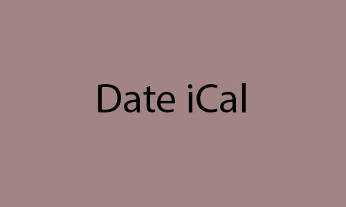 date ical
