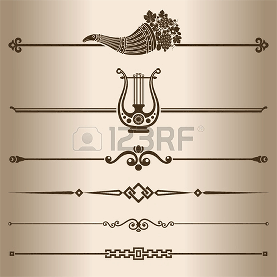 decorative lines elements for design