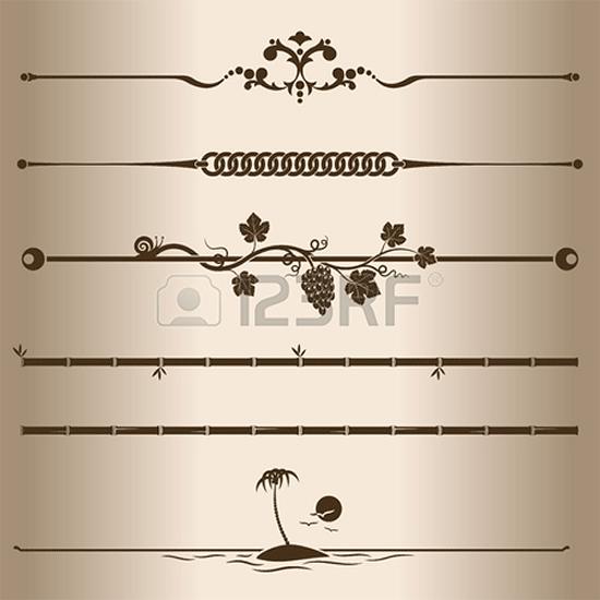 decorative lines elements for design1