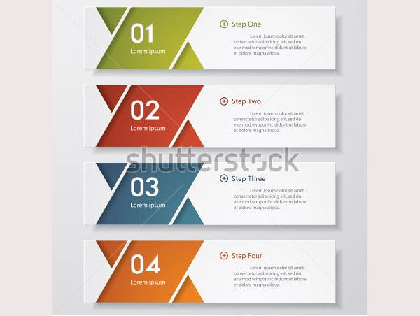 design clean number banners template2