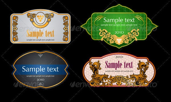 design of vintage wine labels
