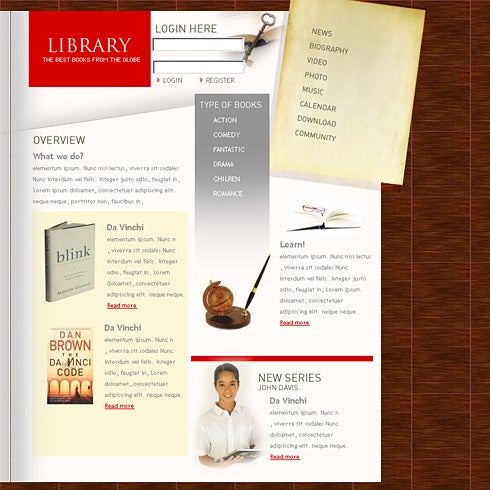Digital Library Website Template