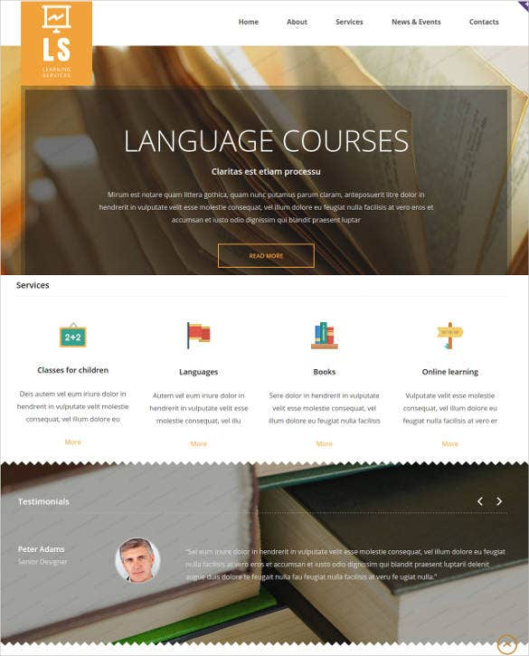 digital library website template2