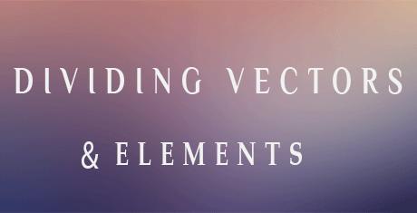 dividing vectors elements