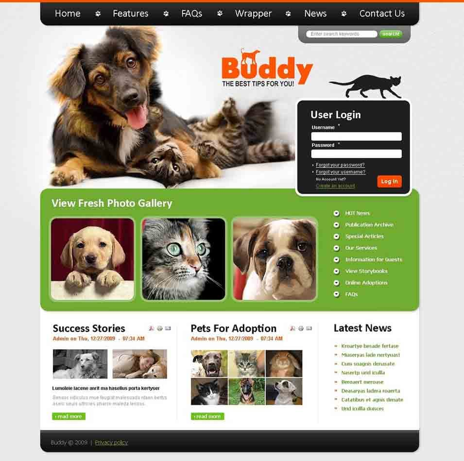 dog joomla template26136