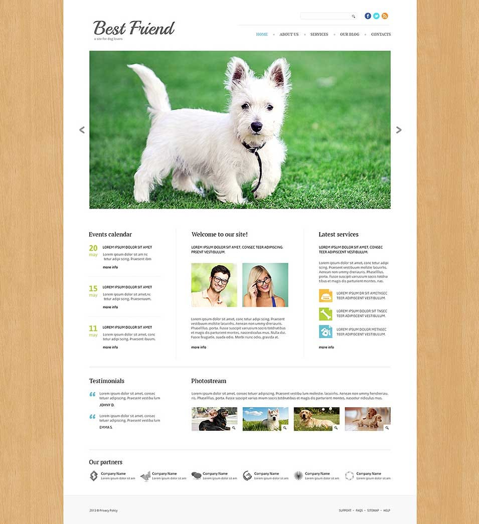 dog responsive joomla template48591