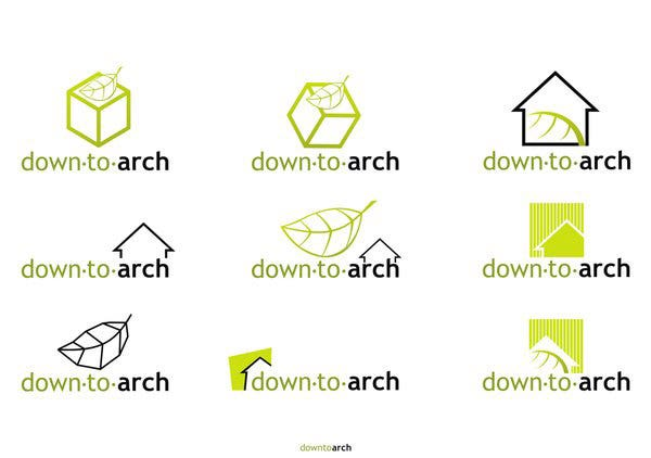 down to arch logo