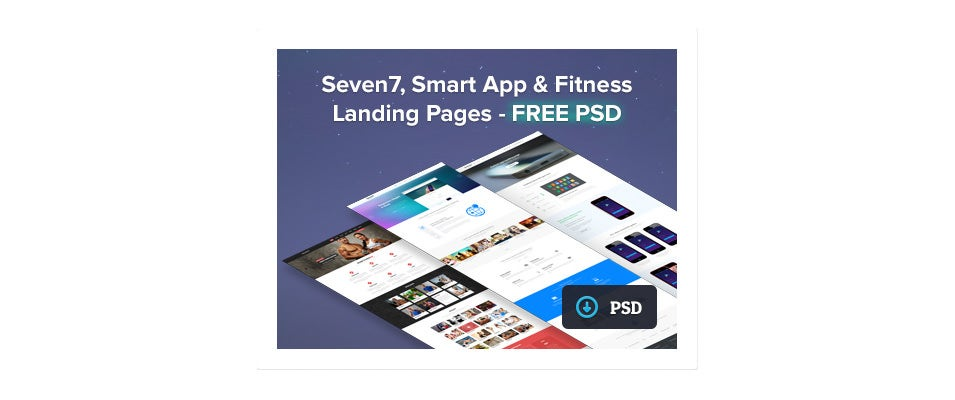 dribbble seven7 smartapp fitness landing pages free psd by dhiren adesara