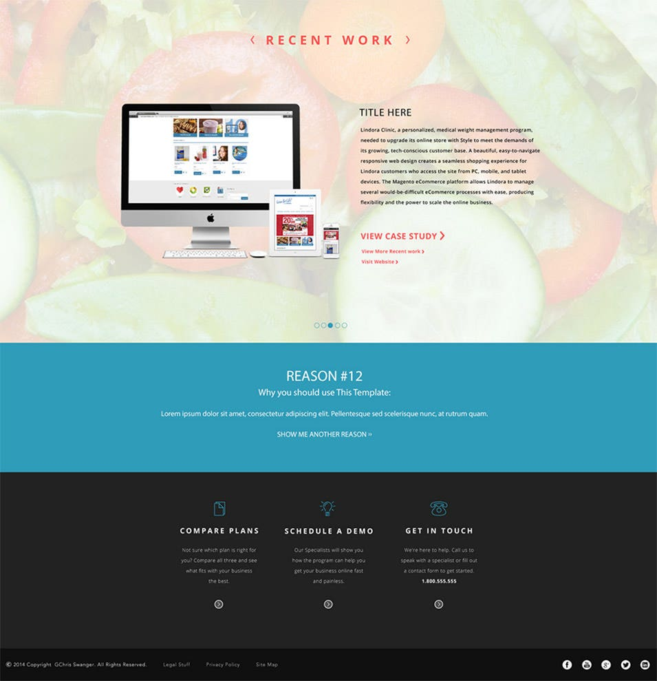 dribbble landing page keentheme big